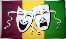 COMEDY & TRAGEDY (SOCK & BUSKIN) - 5 X 3 FLAG