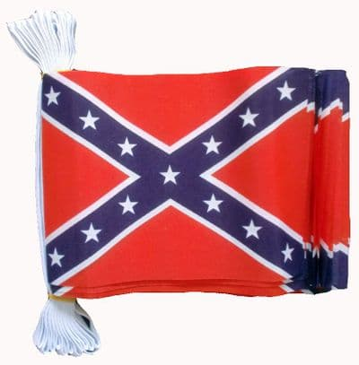 CONFEDERATE BUNTING - 3 METRES 10 FLAGS