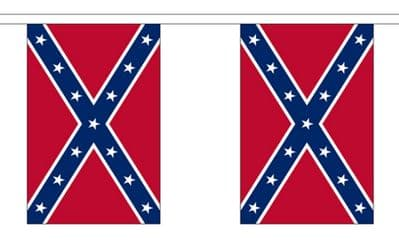 CONFEDERATE BUNTING - 9 METRES 30 FLAGS
