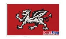 ENGLISH WESSEX DRAGON FLAG DURAFLAG WITH CLIPS 150cm x 90cm