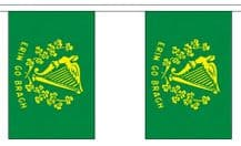 ERIN GO BRAGH (IRELAND FOREVER) BUNTING - 3 METRES 10 FLAGS