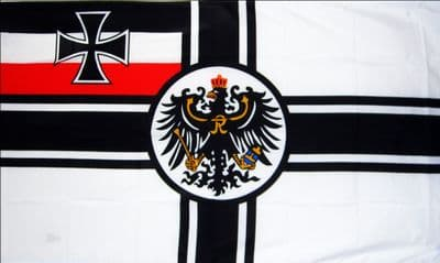 GERMAN IMPERIAL WITH CREST (WWI) - 5 X 3 FLAG