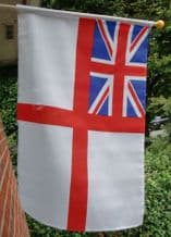 HAND WAVING FLAG - British White Ensign