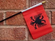 HAND WAVING FLAG (SMALL) - Albania