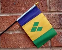 HAND WAVING FLAG (SMALL) - St Vincent & The Grenadines