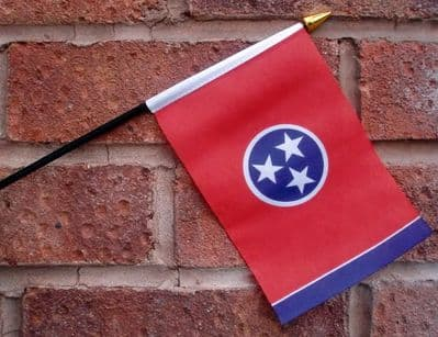 HAND WAVING FLAG (SMALL) - Tennessee