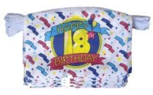 HAPPY 18TH BIRTHDAY BUNTING - 9 METRES 30 FLAGS