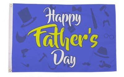 HAPPY FATHERS DAY - 5X3 FLAG