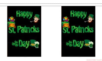 HAPPY ST PATRICKS DAY BUNTING - 3 METRES 10 FLAGS