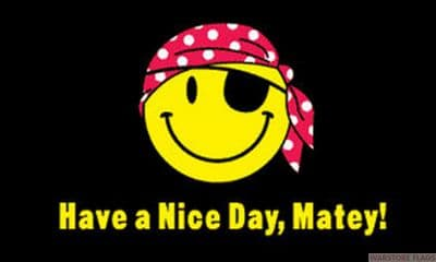 HAVE A NICE DAY MATEY - 5 X 3 FLAG