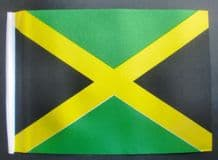 "JAMAICA - SMALL BUDGET FLAG 9"" X 6"""