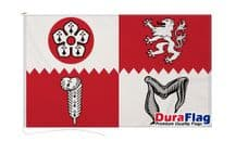 LEICESTERSHIRE FLAG DURAFLAG WITH CLIPS  150cm x 90cm