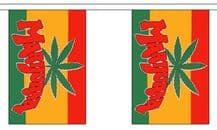 MARIJUANA BUNTING - 9 METRES 30 FLAGS