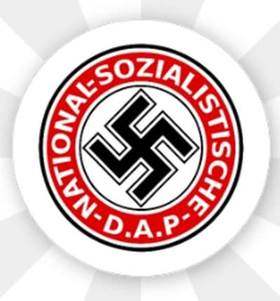 NATIONAL SOZIALISTISCHE D.A.P.  - BUTTON BADGE