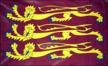 RICHARD THE LIONHEART (ENGLAND) - HAND WAVING FLAG (MEDIUM)