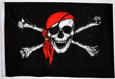 PIRATE WITH BANDANA - SMALL BUDGET FLAG 9