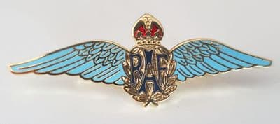 RAF SWEETHEART (BLUE) WINGS - METAL PIN BADGE