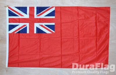 RED ENSIGN DURAFLAG - 5 x 3 FEET WITH ROPE & TOGGLE