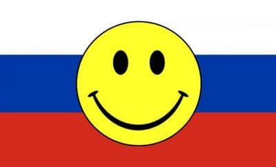 RUSSIAN FEDERATION (RUSSIA) SMILEY - 5 X 3 FLAG