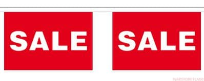 SALE BUNTING - 3 METRES 10 FLAGS