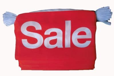 SALE BUNTING - 9 METRES 30 FLAGS