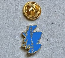 SCOTLAND MAP (BLUE) - PIN BADGE