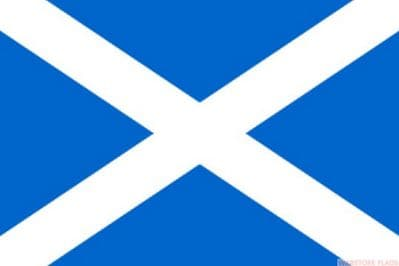 SCOTLAND ST ANDREW LIGHT BLUE NYLON DELUXE QUALITY - 5 X 3 FLAG