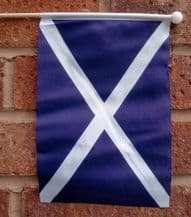 SCOTLAND ST ANDREW (NAVY BLUE) - HAND WAVING FLAG (MEDIUM)