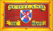 SCOTLAND THE BRAVE - 3 X 2 FLAG