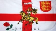 "ST GEORGE CHARGER (ENGLAND) - 18"" X 12"" FLAG"