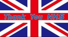 THANK YOU NHS UNION JACK - 5X3 FLAG