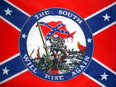 THE SOUTH WILL RISE AGAIN (CONFEDERATE) - 5 X 3 FLAG