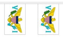 U.S. VIRGIN ISLANDS BUNTING - 3 METRES 10 FLAGS