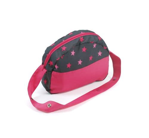 Bayer Chic 2000 - Dolls Pram Bag - Hot Pink Stars