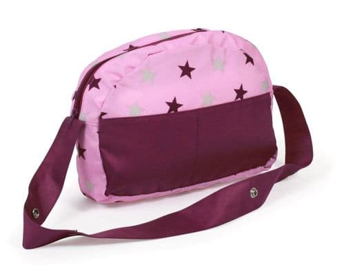 Bayer Chic 2000 - Dolls Pram Bag - Mulberry Pink Star