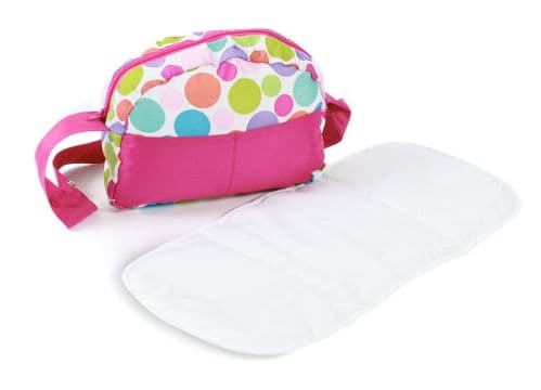 Bayer Chic 2000 - Dolls Pram Bag - Pink Bubbles