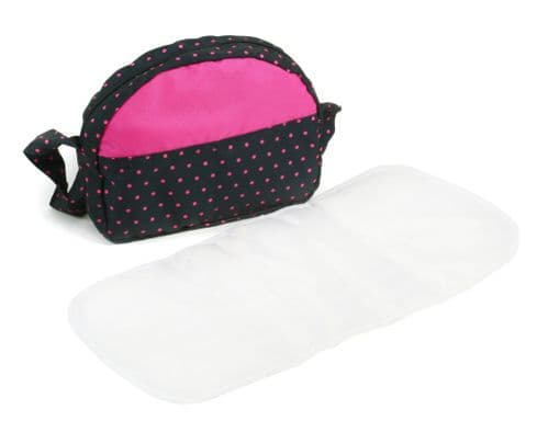 Bayer Chic 2000 - Dolls Pram changing Bag - Dotty Pink Navy