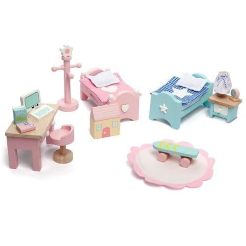 Le Toy Van Daisy Lane Wooden Dolls House Furniture - Childrens Bedroom ME061