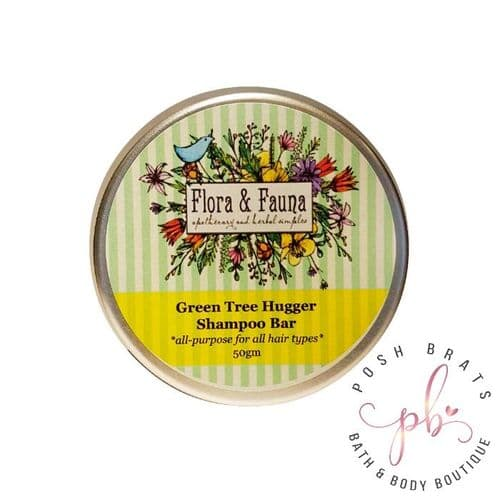 Green Tea Tree Hugger Solid Shampoo Bar VEGAN SLS-free