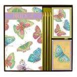 Jewelled Butterflies Bridge Set