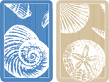 Shells large print playing cards