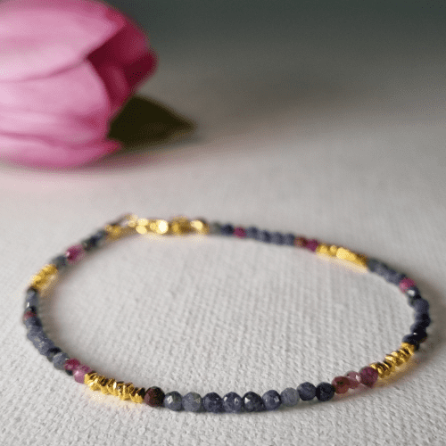 Ruby and Sapphire Stacking Bracelet 1043