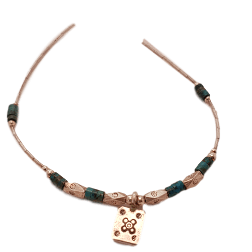 Thai Sterling Silver and Turquoise Necklace