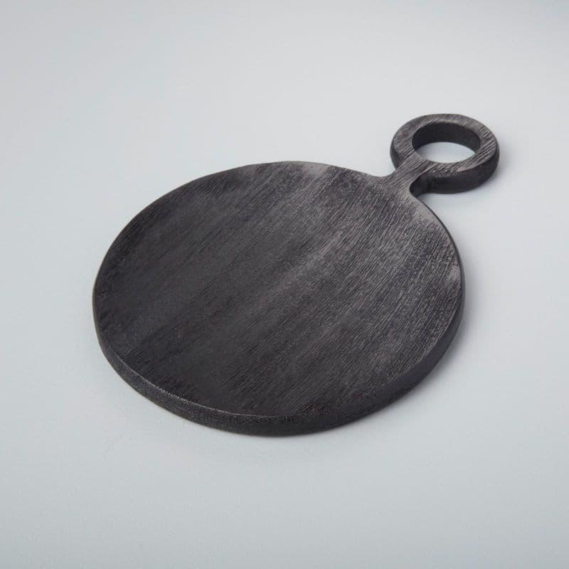 Brushed Black Mango Wood - Round Board - 2 Sizes Available