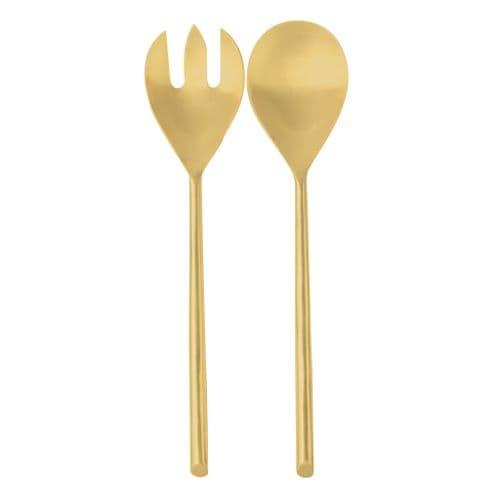 Brushed Metal Serving Set - Copper Or Gold