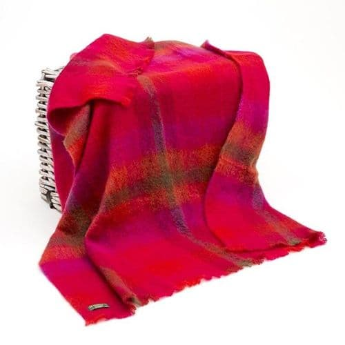 Brushed Mohair Wool Throw