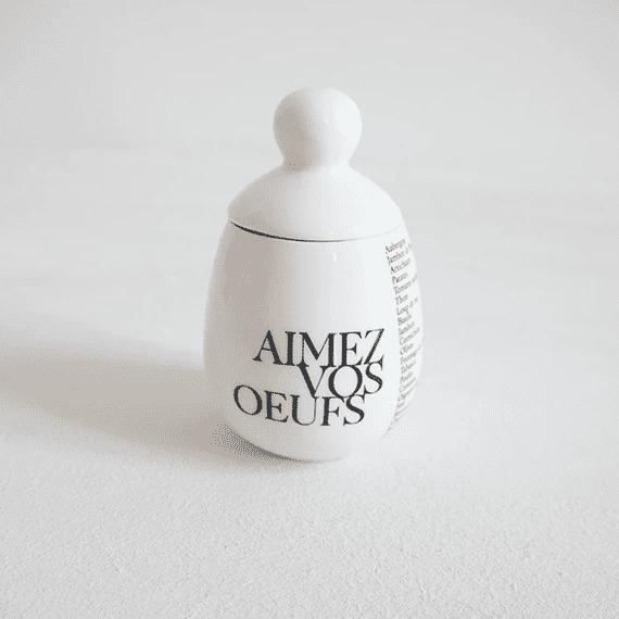 Egg Coddler - Aimez-Vous. Aimez Vos Oeufs  = Love Yourself, Love Your Eggs
