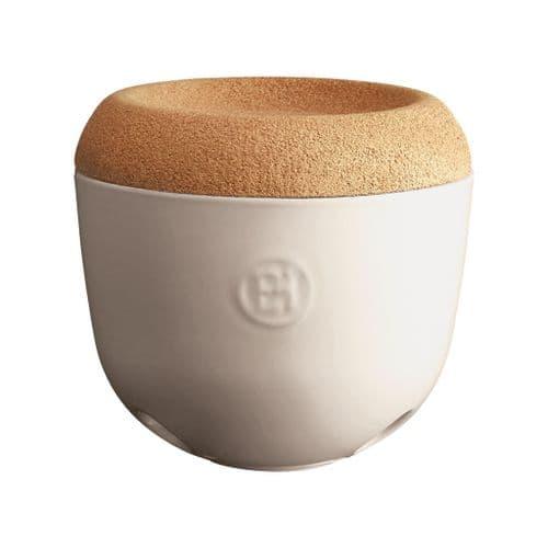 Emile Henry - Garlic Pot With Cork Lid