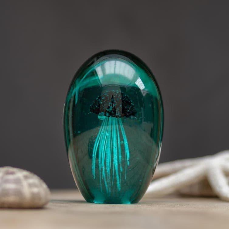 Glass Paperweight - Jellyfish - Lagoon