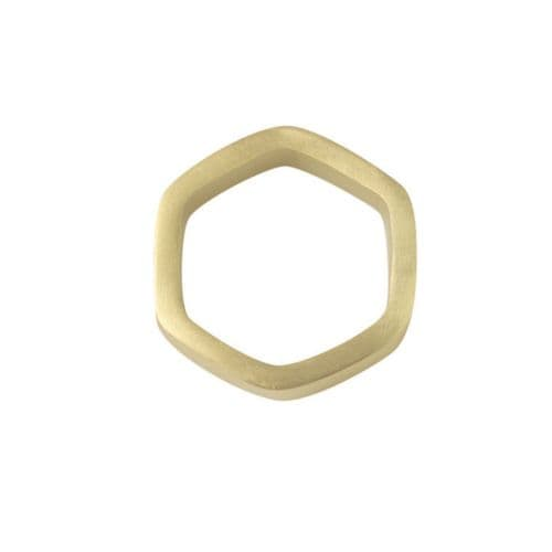Hexagon Napkin Ring - Gold or Silver